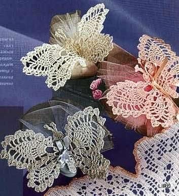 Schemi E Modelli Di Farfalle Uncinetto Per Bomboniere E Decorazioni