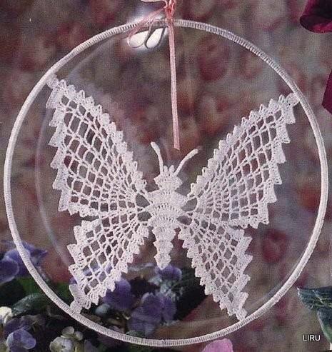 Famoso schemi e modelli di farfalle uncinetto per bomboniere e  FE04
