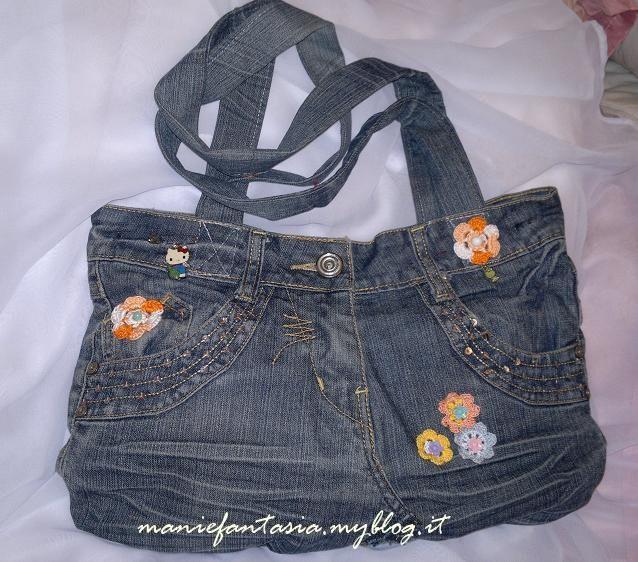 Popolare riciclo creativo come riutilizzare i vecchi jeans - manifantasia HG02