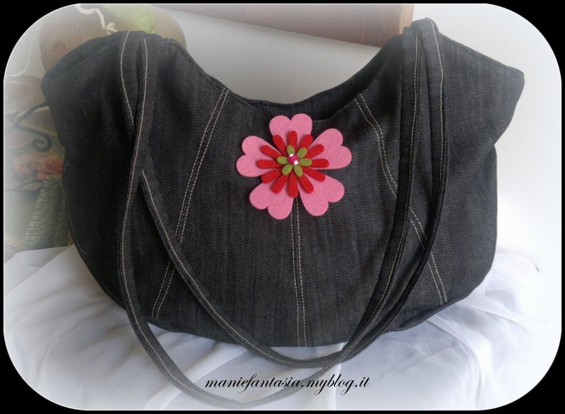 Cucito creativo tutorial borsa jeans manifantasia for Borsa jeans tutorial