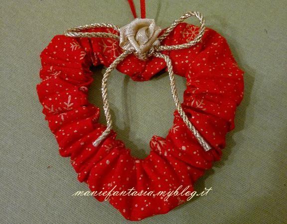 Eccezionale addobbi natalizi facili cuori e cerchi di stoffa - manifantasia EU76