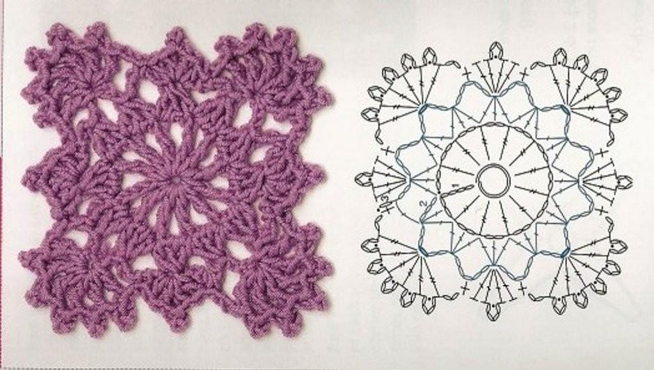 Schemi uncinetto piastrelle quadrate coperte patchwork manifantasia - Piastrelle all uncinetto schemi ...