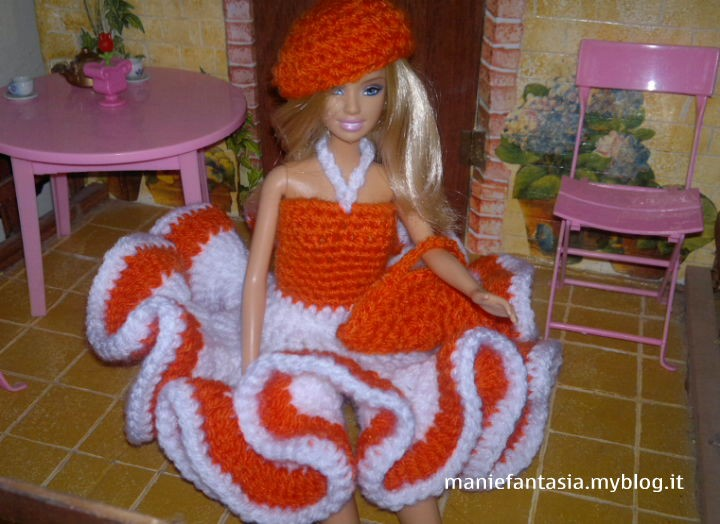 Vestito Barbie Uncinetto Schema Italiano Manifantasia