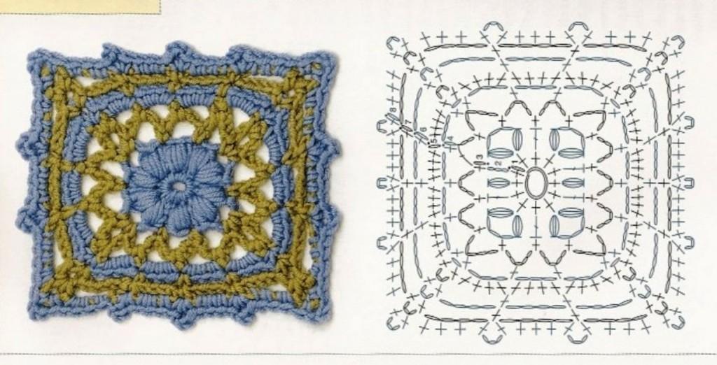 Schemi Uncinetto Piastrelle Quadrate Coperte Patchwork Manifantasia
