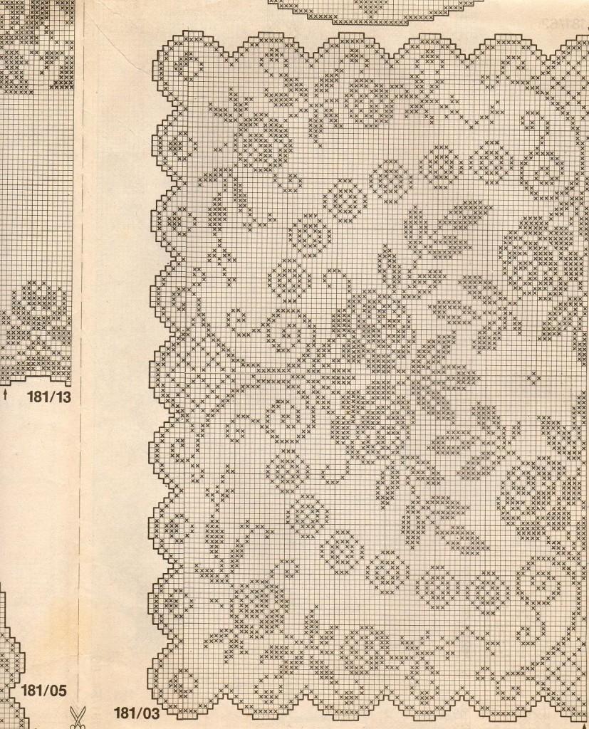 Schemi Filet Uncinetto Tovagliette Quadrate Da Stampare Manifantasia