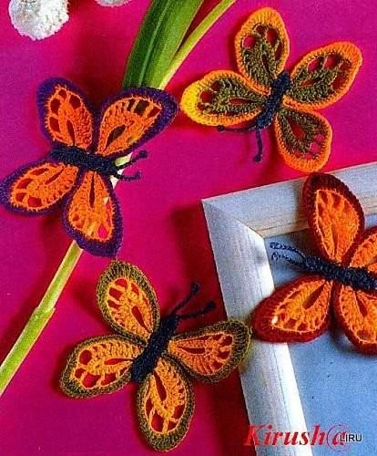 Preferenza schemi e modelli di farfalle uncinetto per bomboniere e  GN77