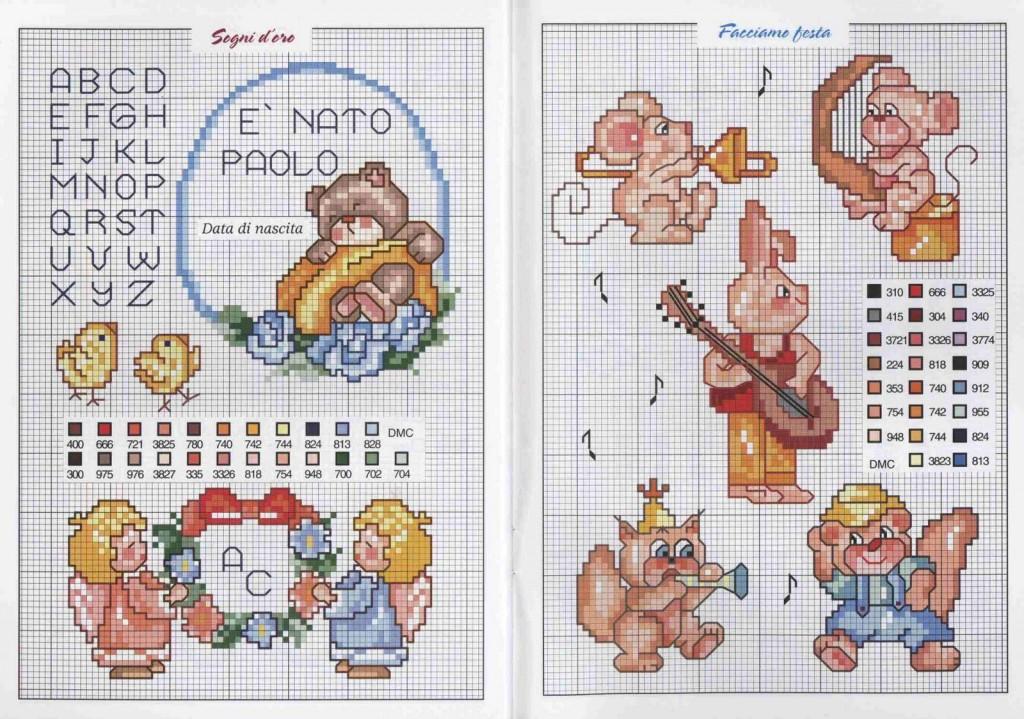 Fiocco nascita punto croce schemi gratis schemi punto for Punto croce bambini gratis