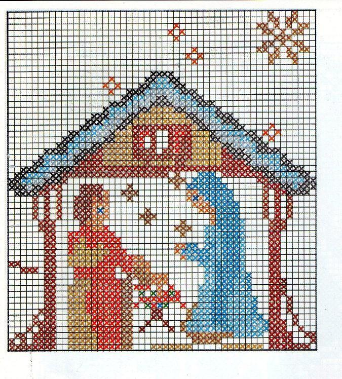 Piccolo Schemi Punto Croce Natale.Schemi Ricamo Punto Croce Natale Manifantasia