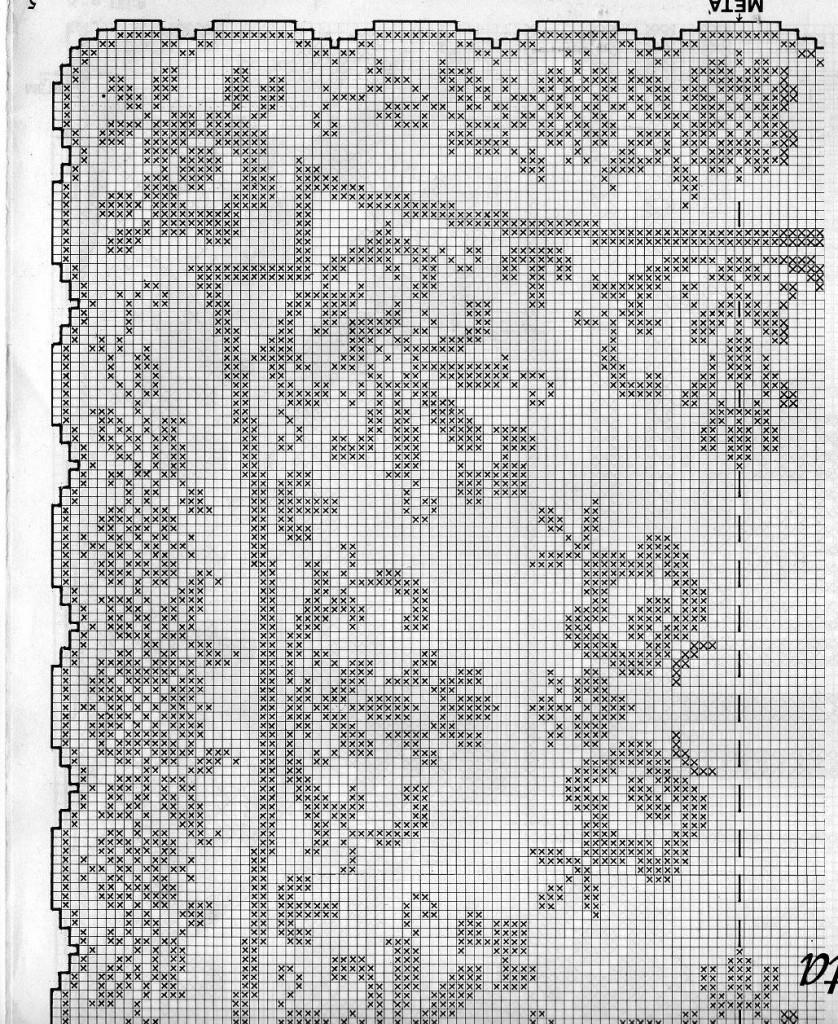 Schemi filet uncinetto tovagliette quadrate da stampare for Schemi tovaglie uncinetto filet