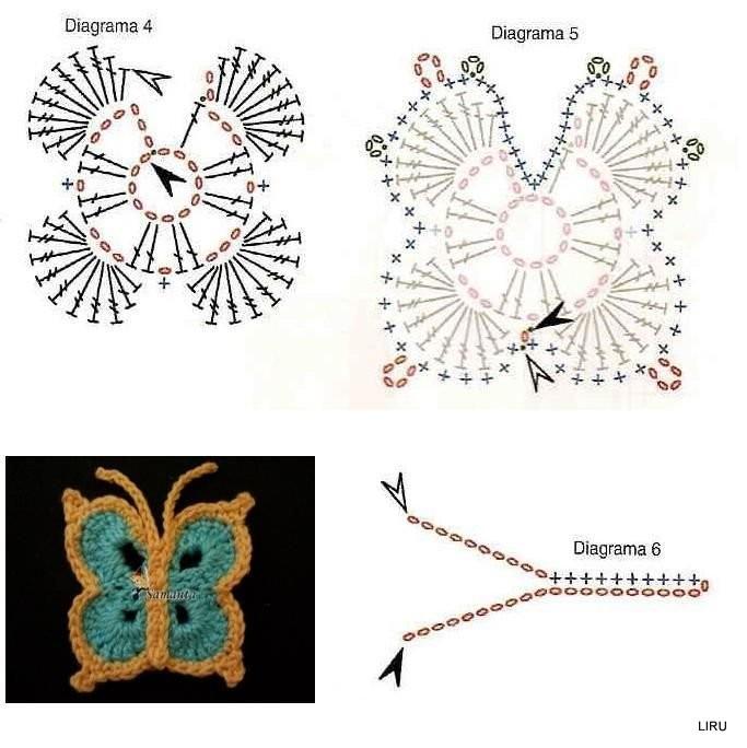 Amato schemi e modelli di farfalle uncinetto per bomboniere e  FN92